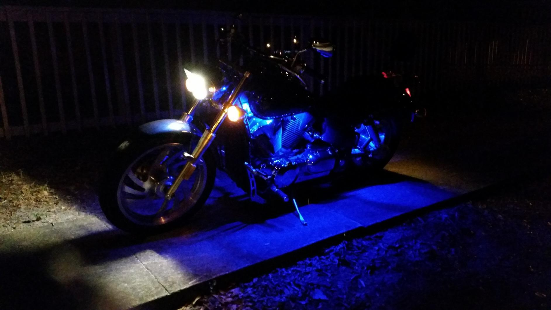 Harley davidson engine lighting accent engine interior body led lighting kits flexible strips mozeypictures Gallery