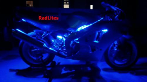 Blue Sport Bike Crotch Rocket LED Motorcycle Lighting