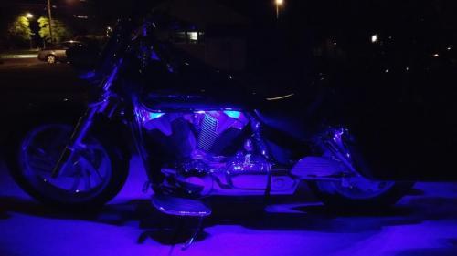 Purple Harley Honda Yamaha